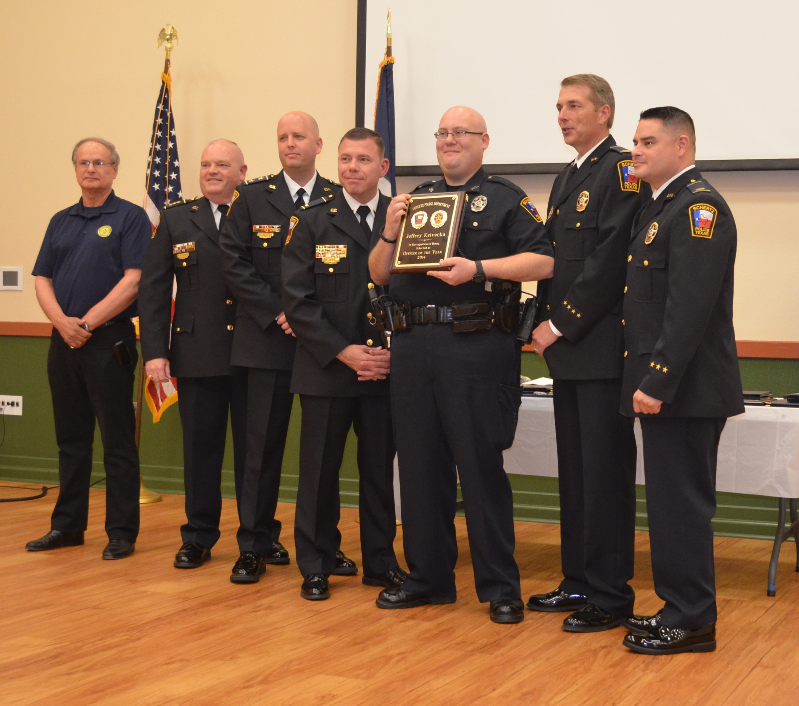 2014 Officer of the Year Awarded