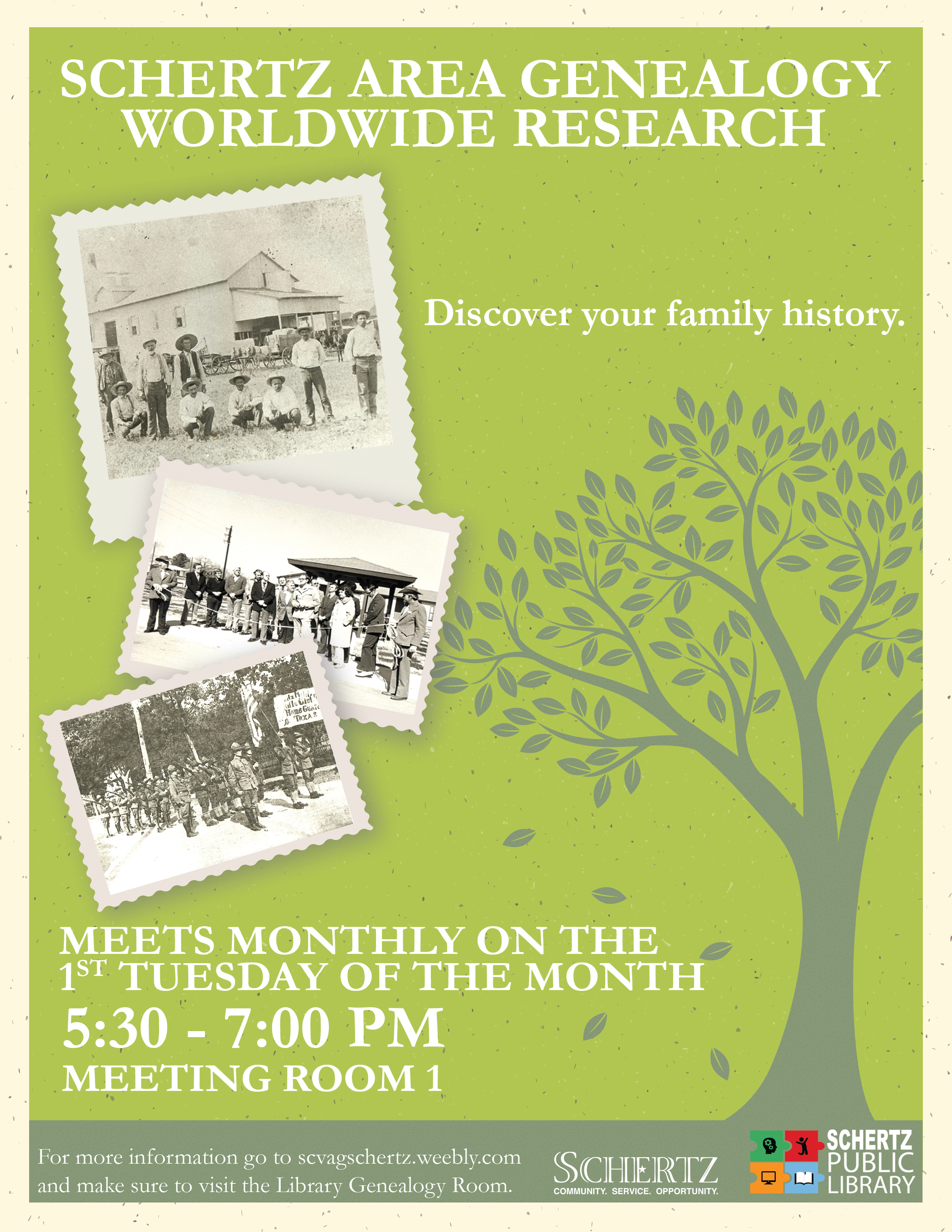 Schertz Area Genealogy Meeting Updated 9-19
