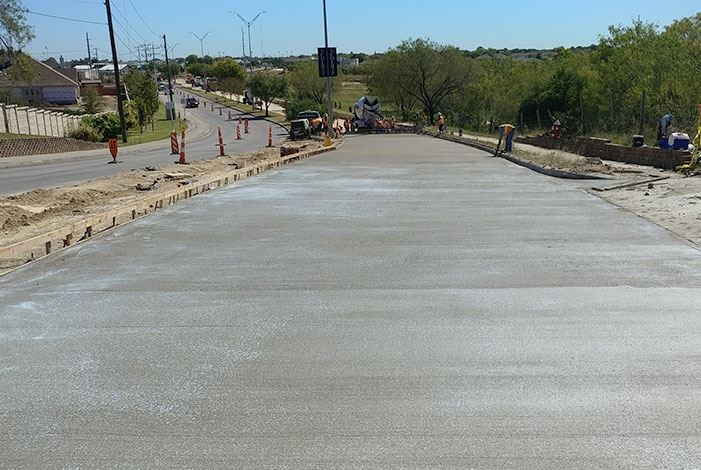 Schertz Parkway Reconstruction Pavement