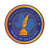 Texas Municipal Clerks Office of Excellence Award