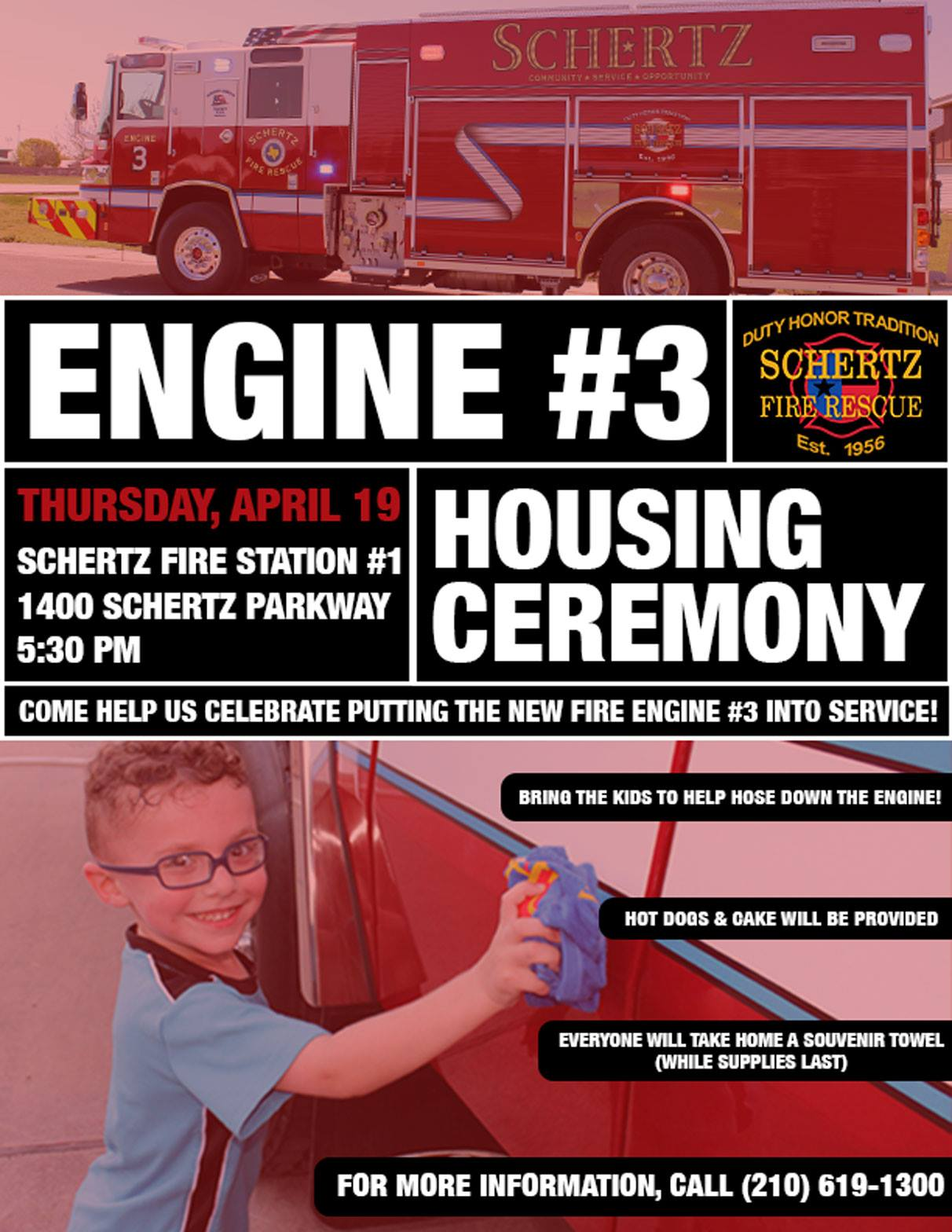 Engine #3 Housing Ceremony