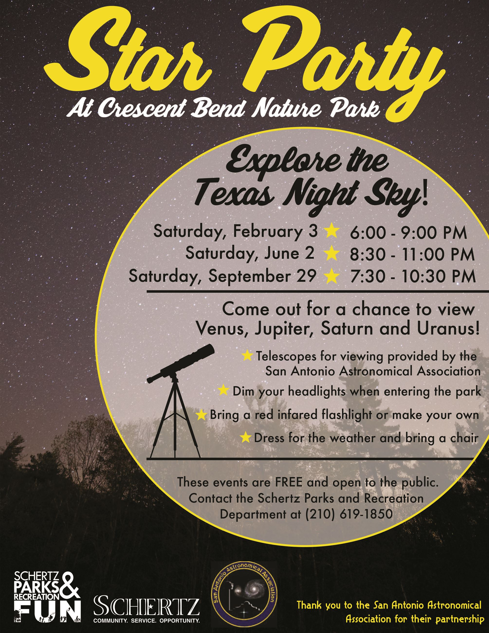 Star Parties Flyer